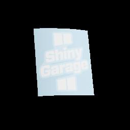 Shiny Garage White Sticker